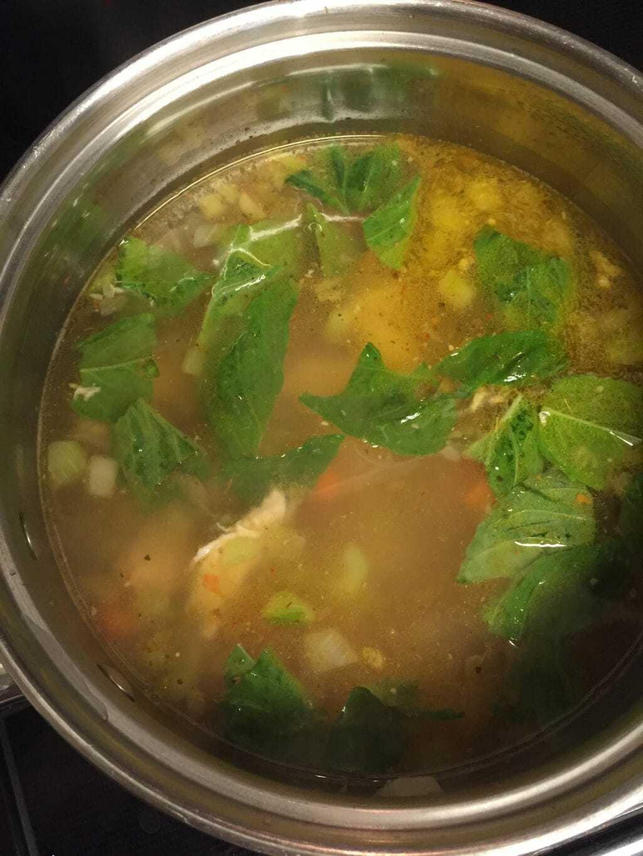 Mediterranean Lemon Chicken Soup