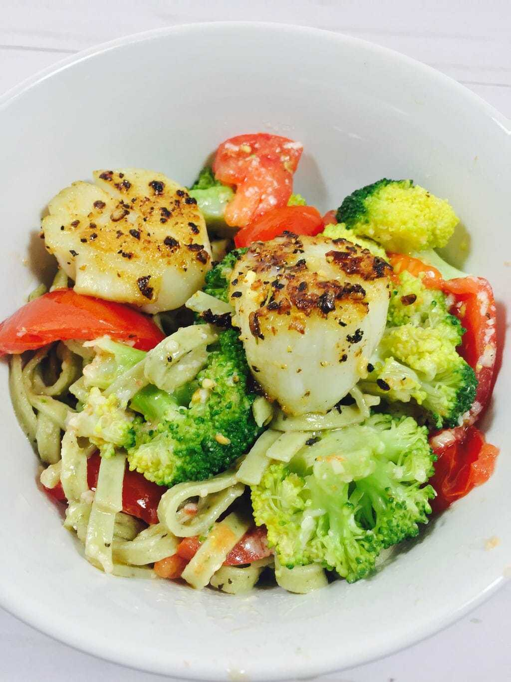 Linguini with Scallops and Mizithra Browned Butter