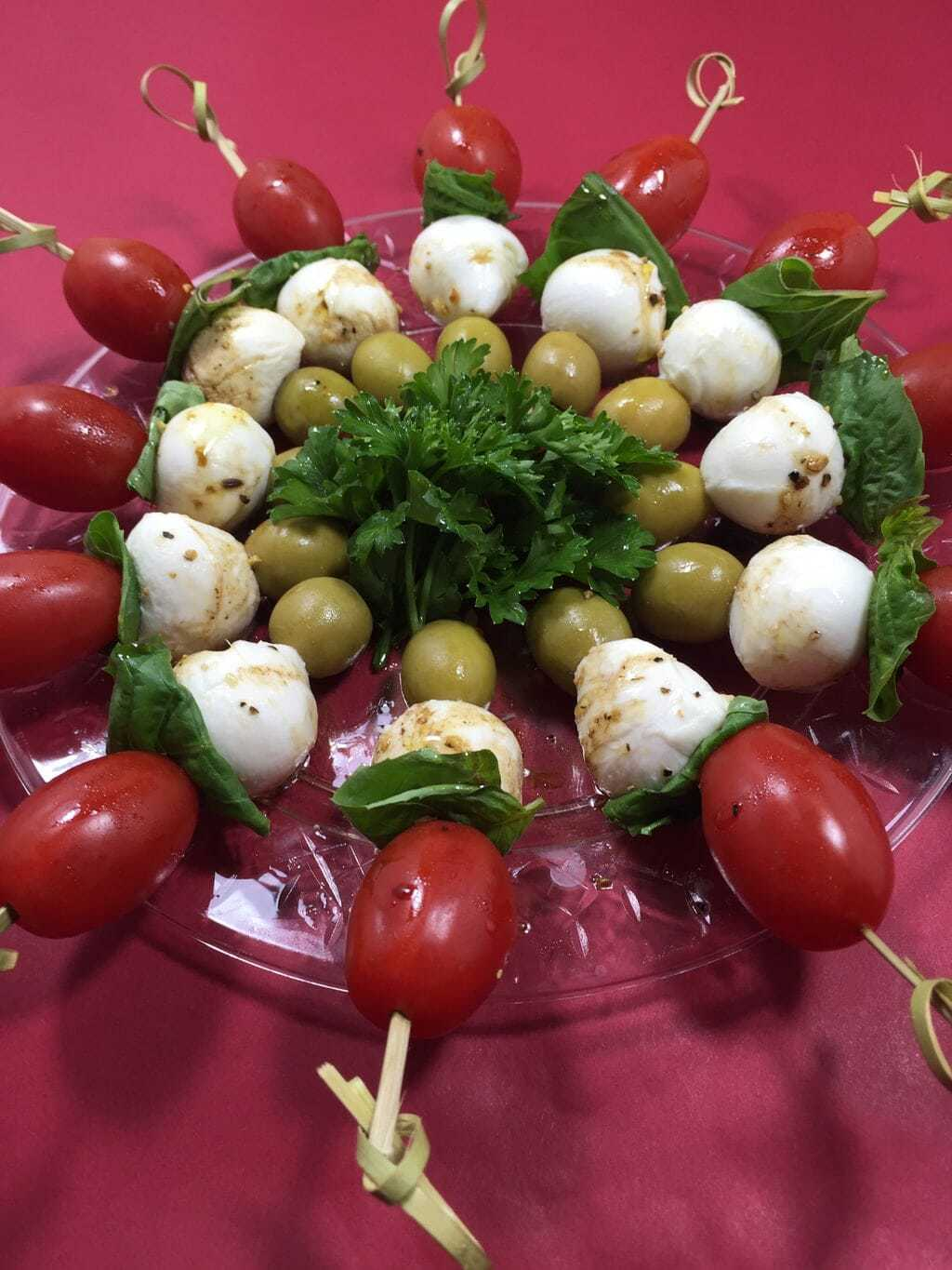 Caprese Salad with Green Olives