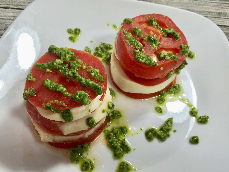 Tomato Mozarella and Pesto