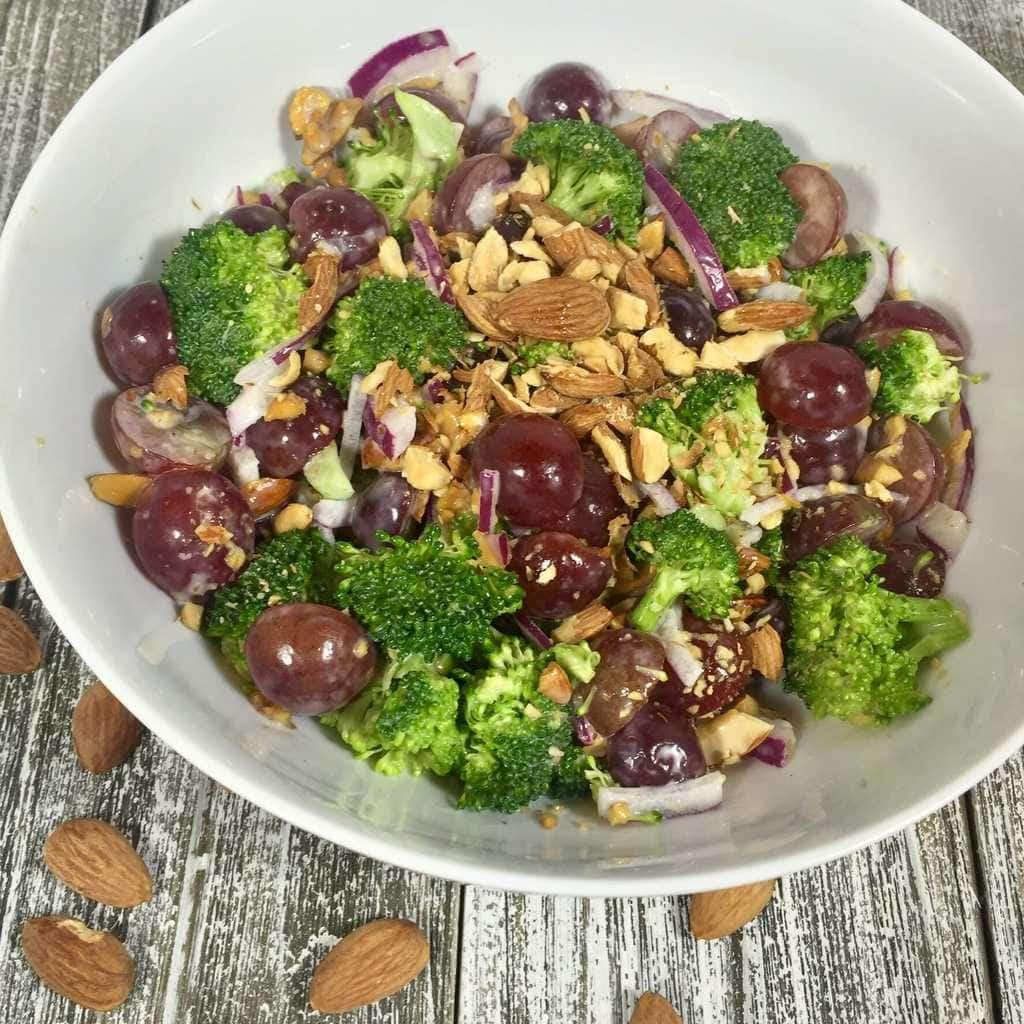 Broccoli Grape Salad with Almonds