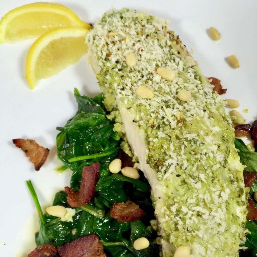 Sole with. Ready Pesto