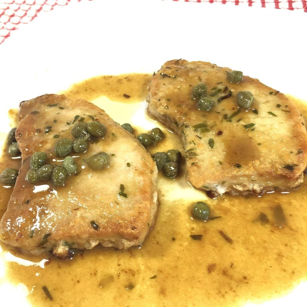 Pork Picatta with Tarragon and Riosemary