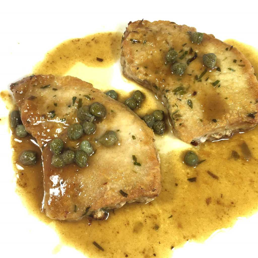 Pork Picatta with Tarragon and Rosemary