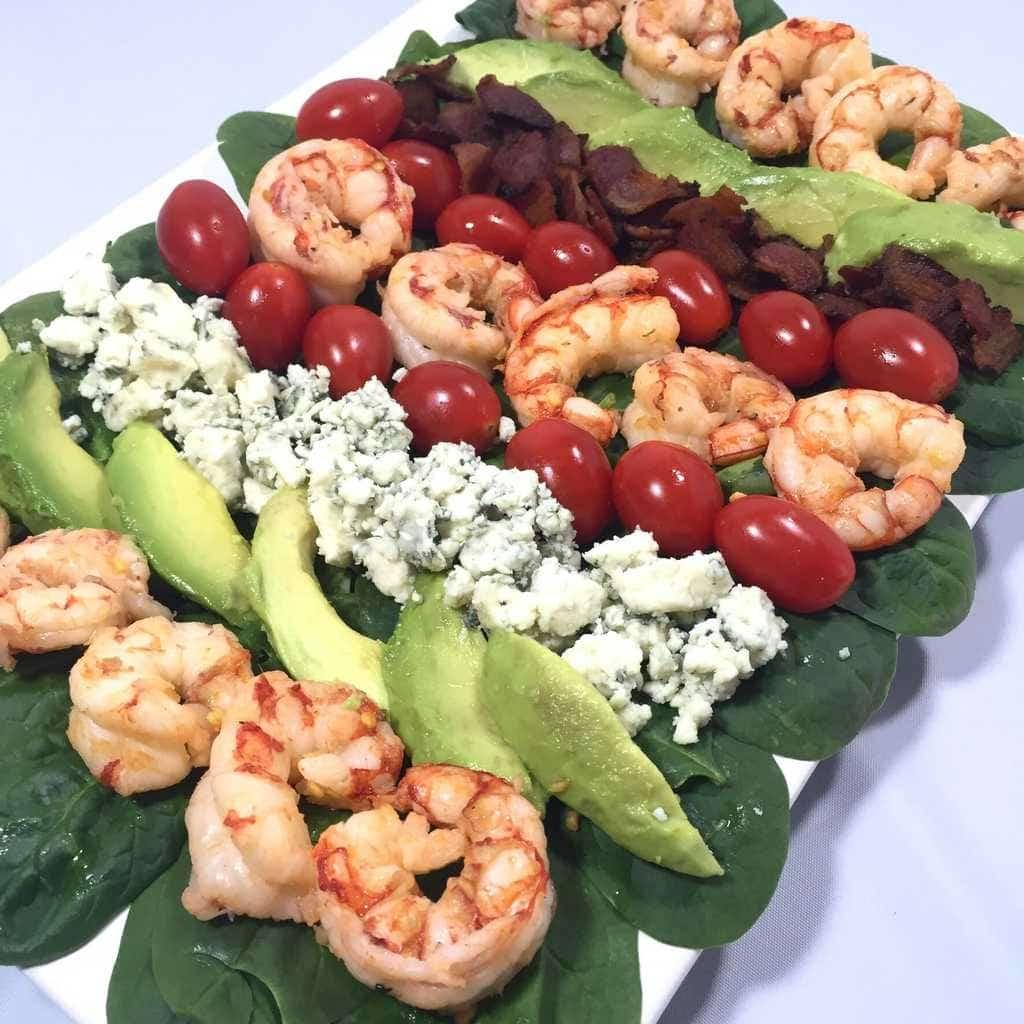 Shrimp and Spinach Cobb Salad 1