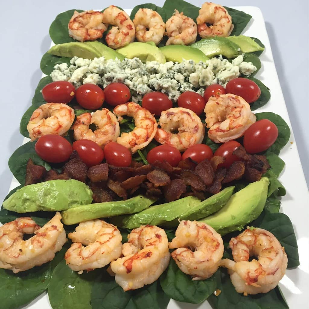 Shrimp and Spinach Cobb Salad