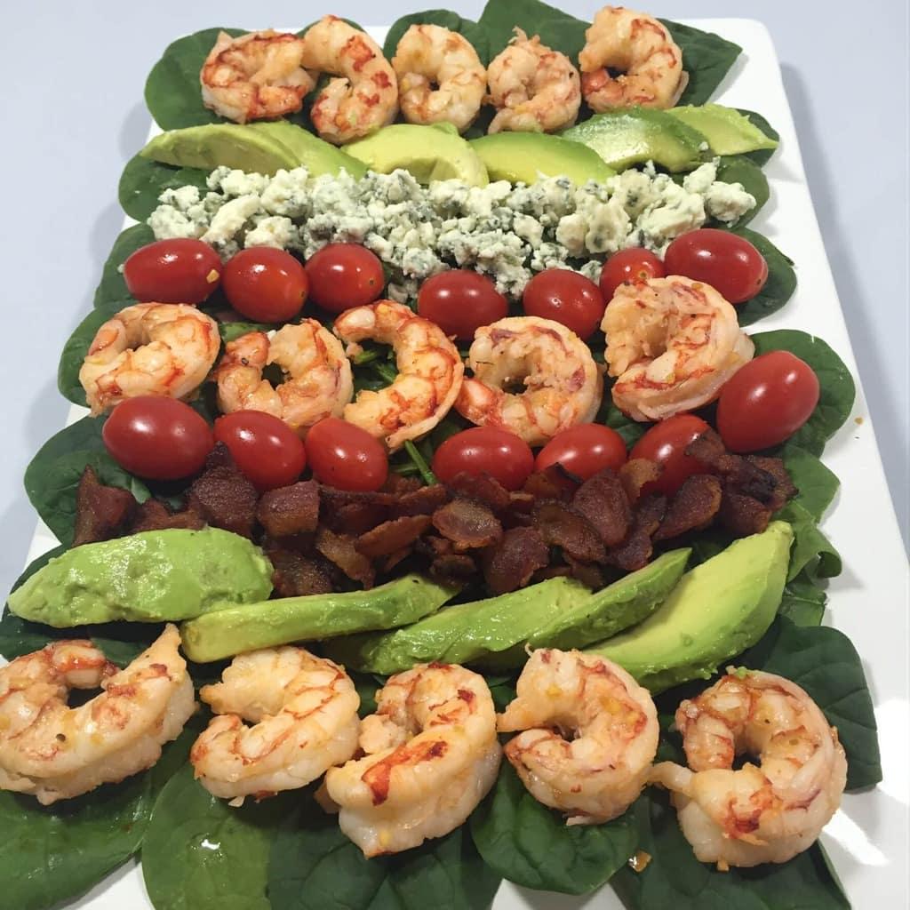 Shrimp and Spinach Cobb Salad
