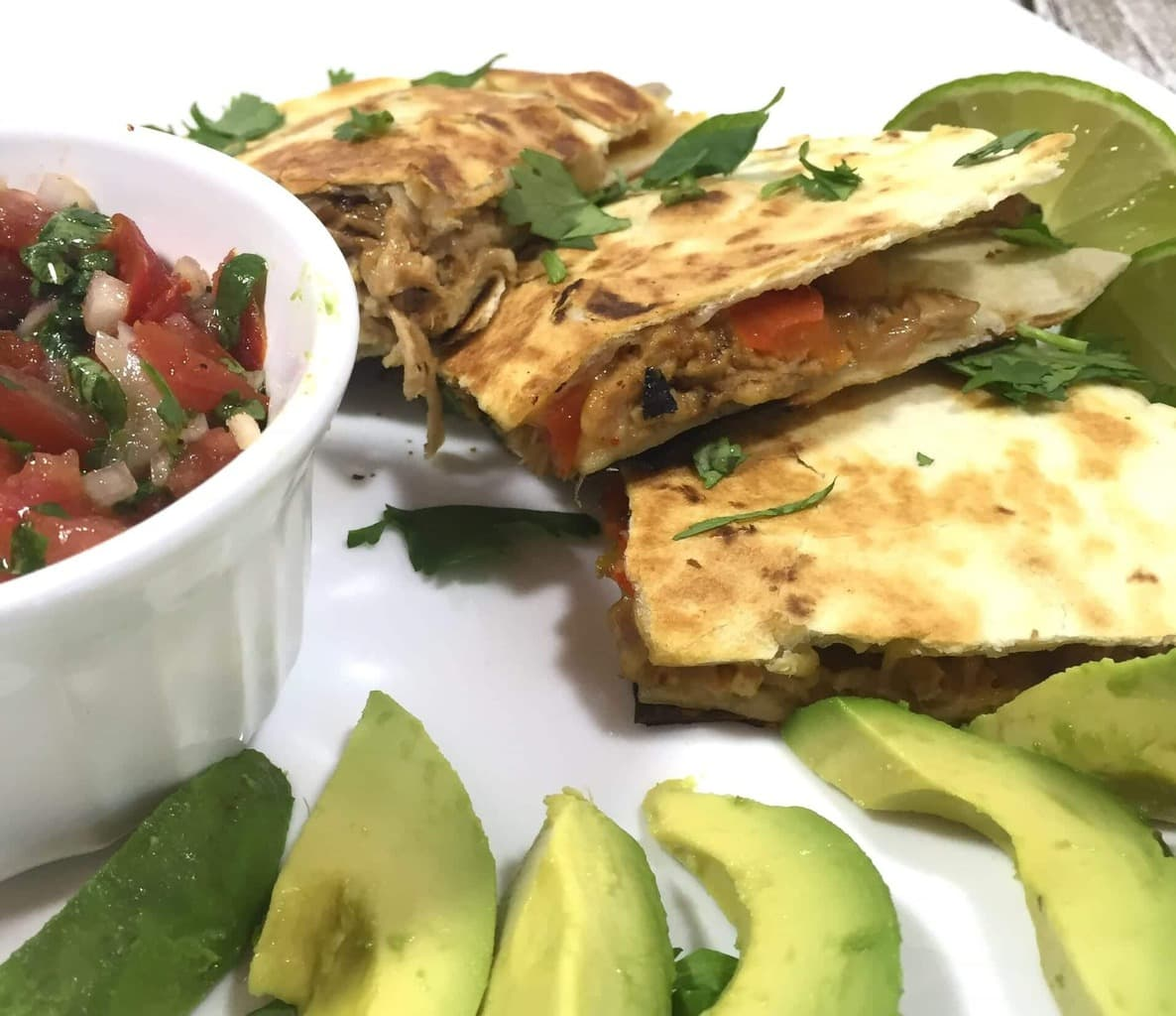 Pork Fajita Quesadillas