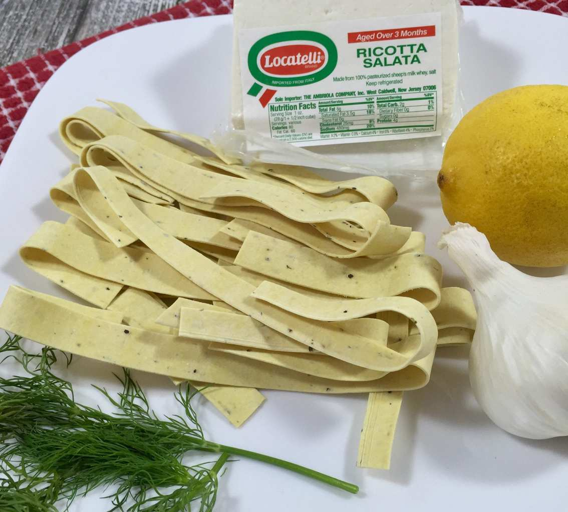 Pappardelle with Lemon Dill Sauce 1