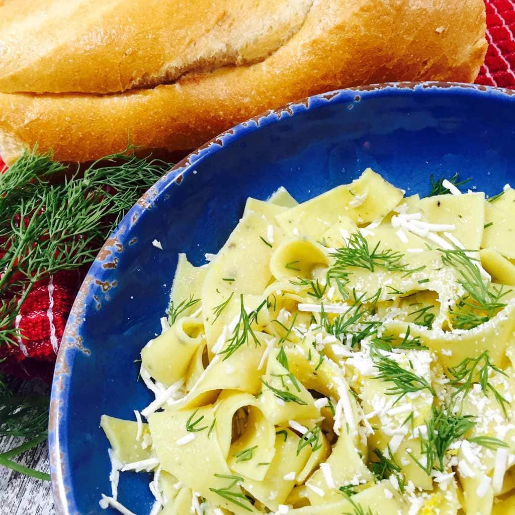 Pappardelle with Lemon Dill Sauce